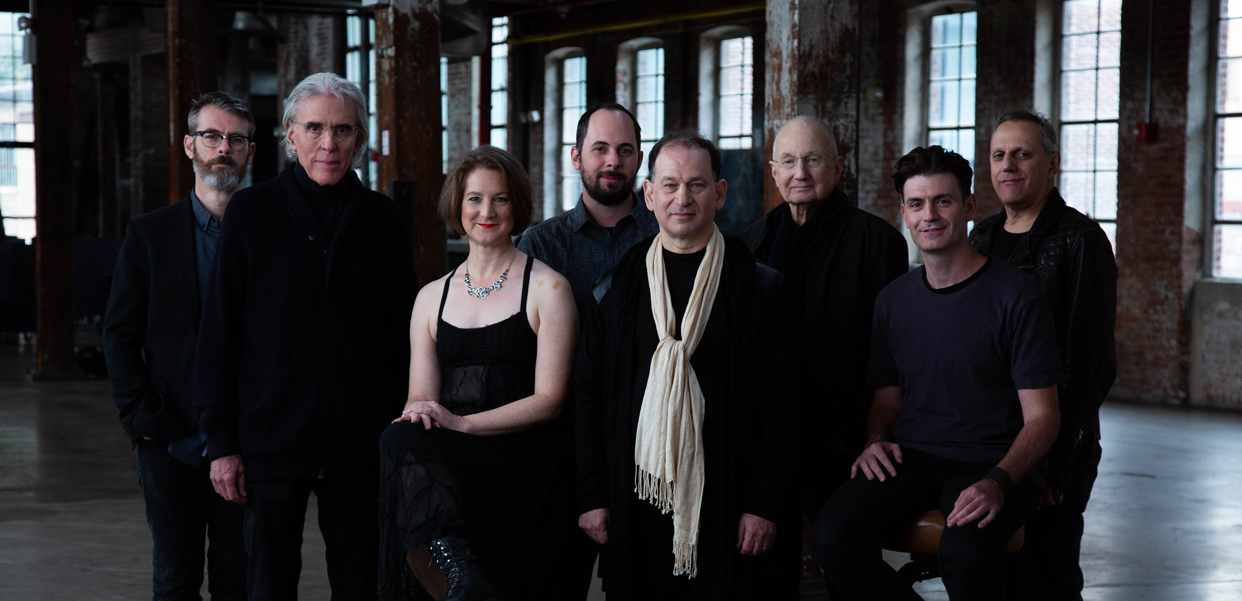 Philip Glass Ensemble group photo